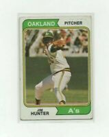 1974 Topps Jim Catfish Hunter Baseball Card #7 Oakland Athletics Hall Of Fame