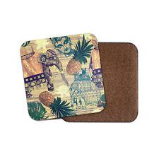 Indian Style Coaster - Elephant Buddhist Lotus Flower Pineapple Cool Gift #13195