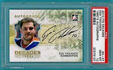 2010 ITG Decades Esa Tikkanen Auto Issue - #A-ET PSA 10! Oilers! POP 1!