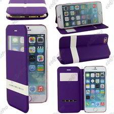 """Accessoire Housse Coque Etui S-View Flip Cover Violet Apple iPhone 6S 4,7"""""""