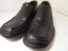 Steve Madden Tread Black Leather Casual Loafer Walking Comfort Mens Sz 8.5