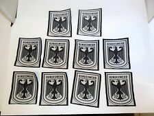 10 GENUINE WEST GERMAN ARMY BUNDESWEHR EAGLE SPORTS PATCH