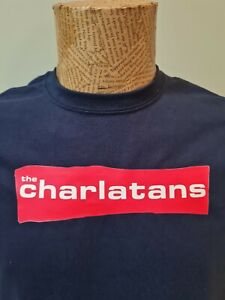 The Charlatans Navy Blue T-Shirt Mens Unisex band Some Friendly Only One I know
