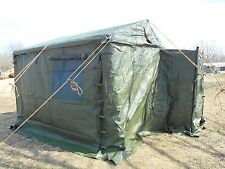 MILITARY   TENT MODULAR COMMAND POST WITH FLOOR 11x11 SURPLUS  NEWEST STYLE ARMY