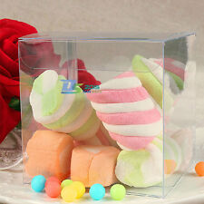 "10x 3"" Wedding Party Favor Clear Gift Jewelry Candy Bead Baby Shower Sweets Box"