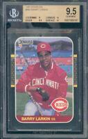 1987 donruss #492 BARRY LARKIN cincinnati reds rookie card BGS 9.5 (9 9.5 10 10)