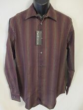 Van Heusen Size 15 1/2 Neck  Cabernet Striped Cotton Blend Point Shirt SR$50 NEW