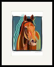 Beholder Mare Thoroughbred Horse Racing Unique Modern Digital Art  SFASTUDIO