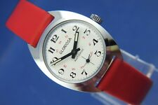 VINTAGE con gloriosa Swiss Donna 24Hr WIND UP WATCH NOS NEW OLD STOCK 1960s
