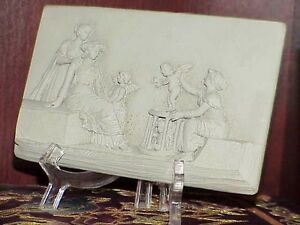 Antique Neoclassical Clay Bas Relief Greek Wall Frieze Sculpture 1850 -1890