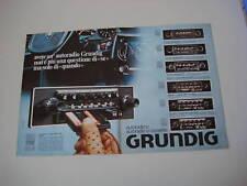 advertising Pubblicità 1977 AUTORADIO GRUNDIG