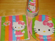 Lot of HELLO KITTY Party Supplies ~ Cups, Plates and Napkins   New!