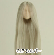 Obitsu Doll 27cm hair implantation head for Whity body (27HD-F01WC17) Silver