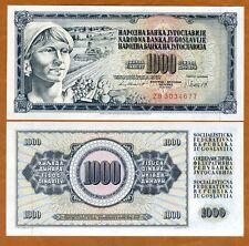 Yugoslavia, 1000 Dinara, 1981, P-92d, UNC > ZB REPLACEMENT