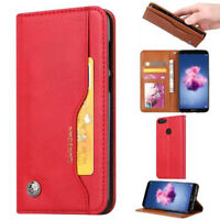 For Huawei P Smart Retro Magnetic Flip PU Leather Wallet Case Stand Cover Card