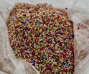 Rainbow Glass Vintage Seed Beads - Over 2 Lbs