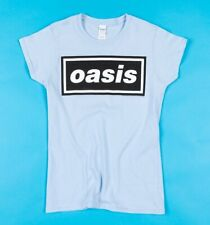 Official Women's Blue Oasis Logo Fitted T-Shirt