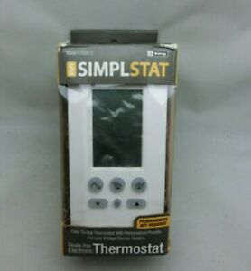 King K702E-2 Line Voltage Thermostat w/ Programmable Presets 208/240V 1P 16A