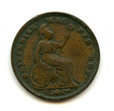 Genuine 1844 Great Britain Third Farthing 1/3 Farthing   VG Details
