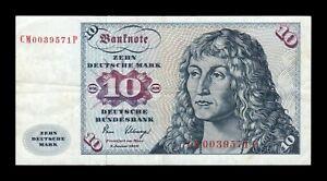 B-D-M Alemania Germany Fed. Rep. 10 Deutsche Mark 1980 Pick 31d BC+ F+