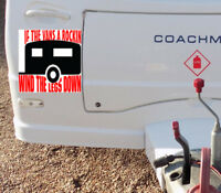 Caravan  Sticker Decal Caravan Sign Camper Humor Motor Home Funny Sign