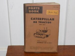 Vintage 1964 Caterpillar D8 Tractor Parts Book Master Copy Soft Cover