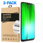 3-Pack Tempered Glass For Motorola Moto G7 E5 Plus Play Power Screen Protector