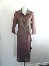 Modern Elegance! M.E.L size 10 bronze wrap skirt & long sleeved jacket