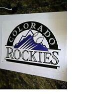 """New listing NOS RARE INAUGURAL SEASON MINT 1993 COLORADO ROCKIES """"MLB BASEBALL LOGO"""" POSTER"""