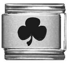 Clearly Charming 3 Leaf Clover Laser Italian Charm