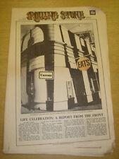 ROLLING STONE #87 1971 JUL 22 LIFE CELEBRATION GLADSTONBURY JETHRO TULL