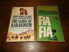 James Ramsey Ullman used paperback book lot of 2 fiction adventure
