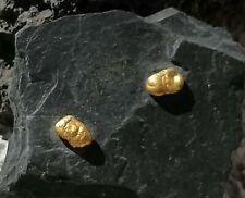 Ohrstecker Gold 999/750 Goldnuggets Unikat Nugget