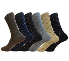 6 PAIR CLASSY MENS DRESS SOCKS FIRST QUALITY SIZE 9-11 COTTON FORMAL SOCKS
