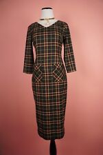 NEW PLAIDS LONG SLEEVES SLIM DRESS SZ S