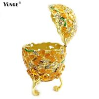 Mediterranean Hollow style Easter Egg Jewelry Tinket Box Metal Crafts Cute Gifts