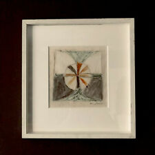 Terry Frost, original work, signed, wax pastel, abstract, Newlyn,