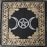 Triple Moon Pentagram Wicca Pagan Pentacle 24x24 Altar Tarot Side Table Cloth