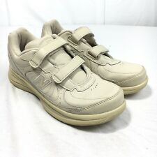 d729a078821 New Balance 577 DSL2 Women s 8 2A Beige Leather 2 Strap On Walking Shoes