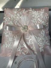 wedding ring pillow cushion engagement ring holder P26 pink