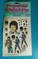 Popstar Watchits - GARY GLITTER - Letraset Rub-down Transfers - 1975 - NEW