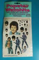 Popstar Watchits - GARY GLITTER - Letraset Rub-down Transfers - 1975 - NEW
