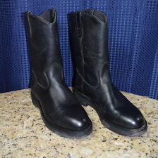 CORCORAN PULL ON BOOT BLACK UPPERS LEATHER MEN'S SIZE 8