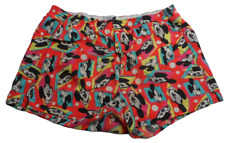 Mickey Mouse Walt Disney All Cotton Vintage Mens Snap Fly Boxer Shorts Medium