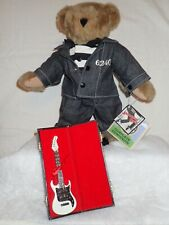 """Jailhouse Rock Elvis Presley Vermont Teddy Bear, 15"""" with stand and guitar"""
