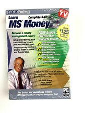 Video Professor Learn Ms Money 3 Cd Set Pc Software P036M0 (Sealed)
