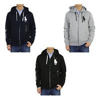 Polo Ralph Lauren Big Pony Zip Hooded Hoodie Sweatshirt Jacket -- 3 colors --