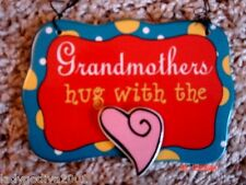Grandmothers Hug With The Heart - ceramic sign-Ganz - FREE Shipping