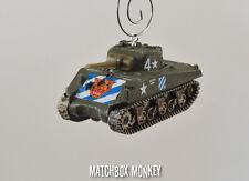 USA Sherman M4 Tank Korean War WWII Skeeter Hawk Custom Christmas Ornament 1/72