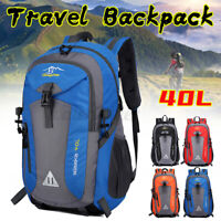 40L Waterproof Outdoor Sports Travel Backpack  Camping Hiking Rucksack